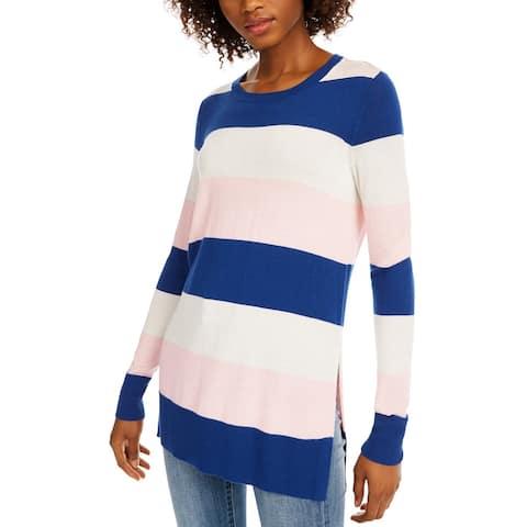 Maison Jules Women's Striped Sweater Blue Size X-Small