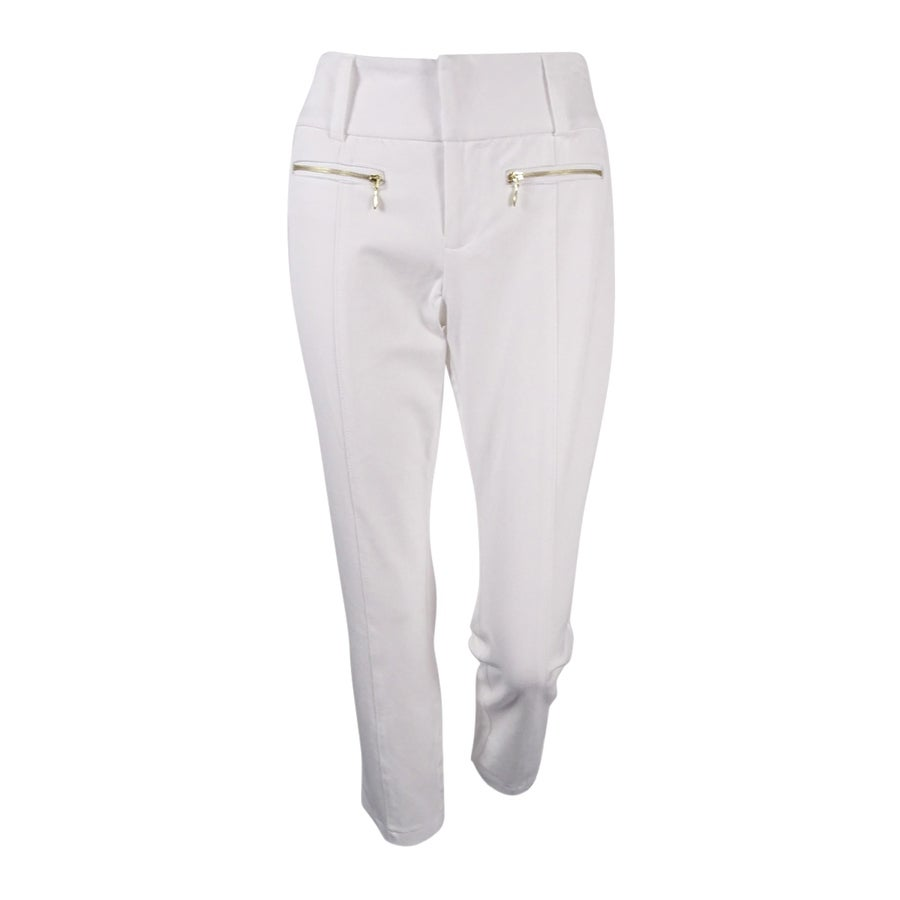 INC International Concepts Womens Zip-Pocket Cropped Pants