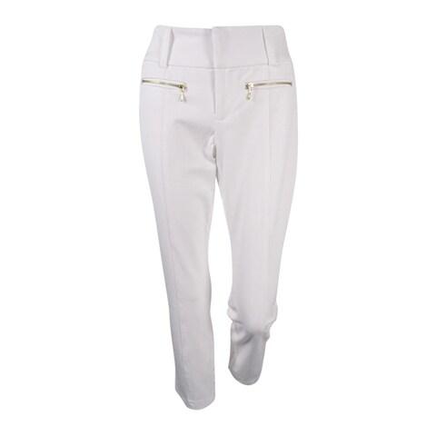 INC International Concepts Women's Zip-Pocket Cropped Pants