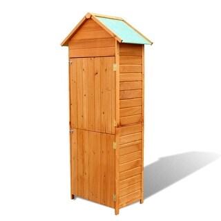 """vidaXL Garden Storage Cabinet Brown 31.1""""x19.3""""x74.8"""""""