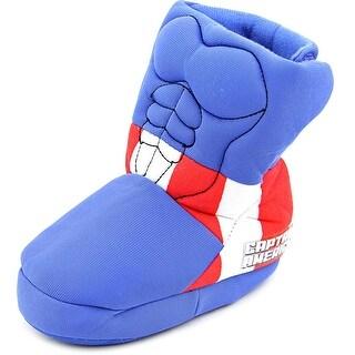 Marvel Captain America Toddler Round Toe Canvas Blue Slipper