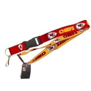 Kansas City Chiefs NFL Reversible Lanyard Keychain Id Ticket Holder