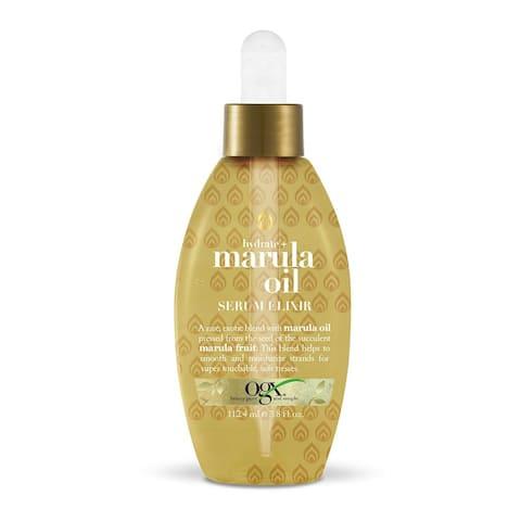 OGX Hydrate + Marula Oil Serum Elixir 3.8 Ounce - Gold - 3.8 oz