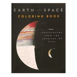 Earth & Space Adult Coloring Book - With Full-Color Photos from NASA