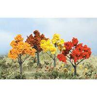 """Autumn Trees 2"""" To 3"""" 4/Pkg-"""