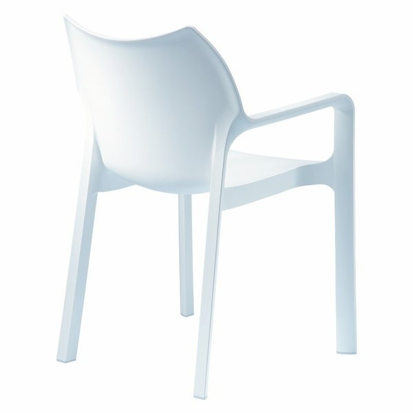 Diva Stackable Armchair [Set of 4] White