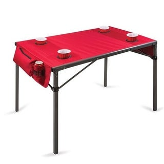 Picnic Time 799-00-100-000-0 Portable Travel Folding Table - Red