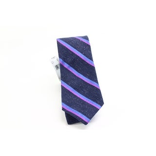 Ted Baker NEW Navy Blue Woven Stripes Mens Neck Tie Wool Silk Accessory