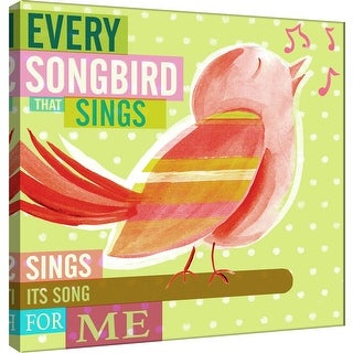 "PTM Images 9-100993  PTM Canvas Collection 12"" x 12"" - ""Dream Every Day - Songbird"" Giclee Birds Art Print on Canvas"