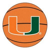 University of Miami Basketball Area Rug