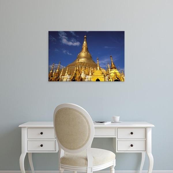 Easy Art Prints Inger Hogstrom's 'Golden Stupa Of Shwedagon Pagoda' Premium Canvas Art