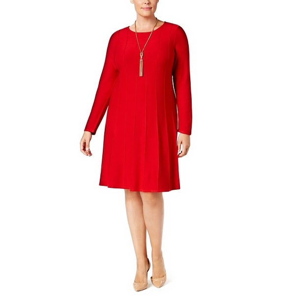62c9124e3c Shop Jessica Howard Plus Size Fit   Flare Sweater Dress - 2x - Free  Shipping Today - Overstock.com - 20350370