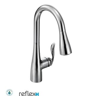 Moen 7594 Single Handle Pulldown Spray Kitchen Faucet With Reflex  Technology From The Arbor Collection (