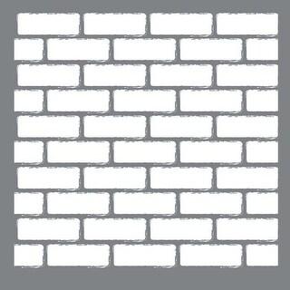 "Brick Wall - Americana Mixed Media Stencil 12""X12"""
