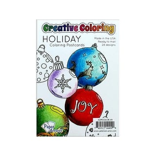 Creative Coloring Postcards 4.25x6 24pc Holiday