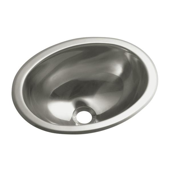 """Sterling 11811-0 13-1/4"""" Stainless Steel Drop In or Undermount Bathroom Sink"""