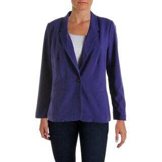 Kensie Womens Boyfriend Blazer One-Button Notch Collar