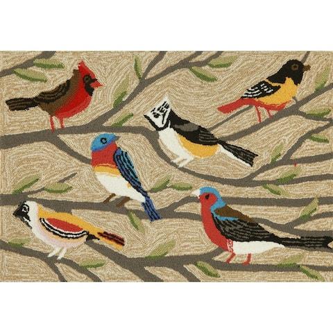 """Liora Manne Frontporch Birds Indoor/Outdoor Rug Multi 3'6"""" x 5'6' - 3'6"""" x 5'6"""""""