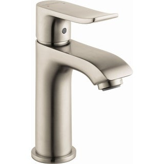 Hansgrohe 31088  Metris 1.2 GPM Single Hole Bathroom Faucet with EcoRight, Quick Clean, and ComfortZone Technologies - Drain