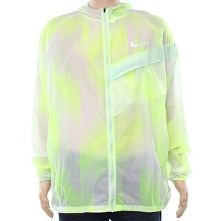 Nike Yellow Mens Size 2XL Hooded Full-Zip Running Athletic Jacket