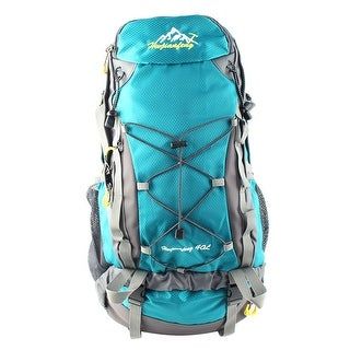 Unique Bargains HWJIANFENG Authorized Outdoor Pack Water Resistant Bag Hiking Backpack Teal 40L