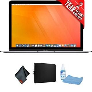 """Apple 12"""" MacBook (Mid 2017, Space Gray) Bundle"""