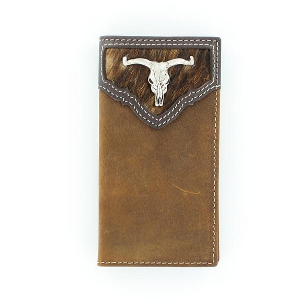 Nocona Western Wallet Mens Rodeo Longhorn Skull Youth Saddle - One size