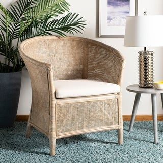 """Link to SAFAVIEH Alexana Rattan Armchair -White Washed - 31.5"""" x 29.9"""" x 25.6"""" Similar Items in Living Room Chairs"""