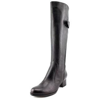 Everybody By BZ Moda Nellare Women Round Toe Leather Black Knee High Boot