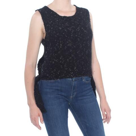 MAX STUDIO Womens Black Tie Sides Sleeveless Sweater Size: M