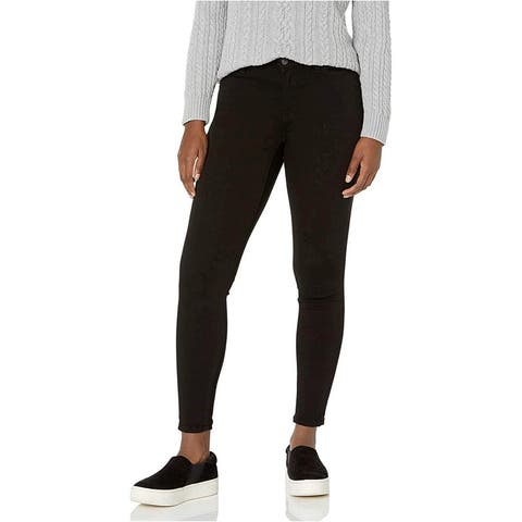 Essentials Women's Skinny Jean, Black, 14 Short