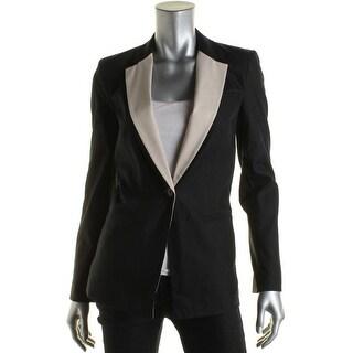 DKNY Womens Colorblock One-Button Blazer - 2