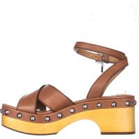 Coach Womens Astor Leather Open Toe Special Occasion Platform Sandals