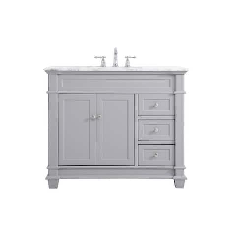 West Bathroom 42 Inch Vanity Set
