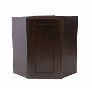 "Design House 562363 Brookings 24"" Wide x 30"" High Single Door Corner Wall Cabinet - Espresso - N/A"