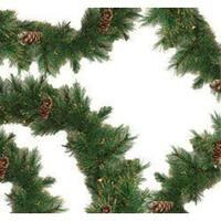 "9' x 10"" Pre-lit Yorkville Pine Artificial Christmas Garland - Clear Lights - green"