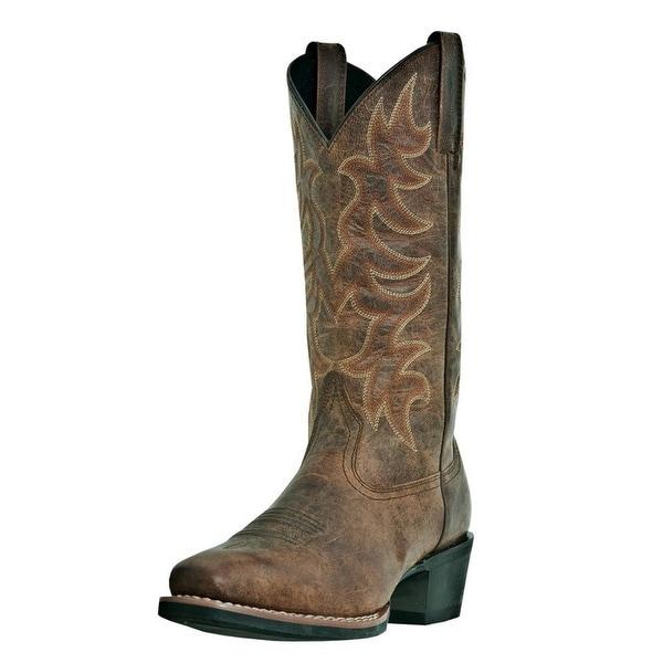 Laredo Western Boots Mens Piomosa Cowboy Square Toe Vintage Tan