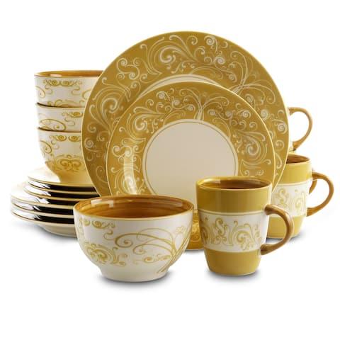 Elama Persian Swirl 16 Piece Dinnerware Set