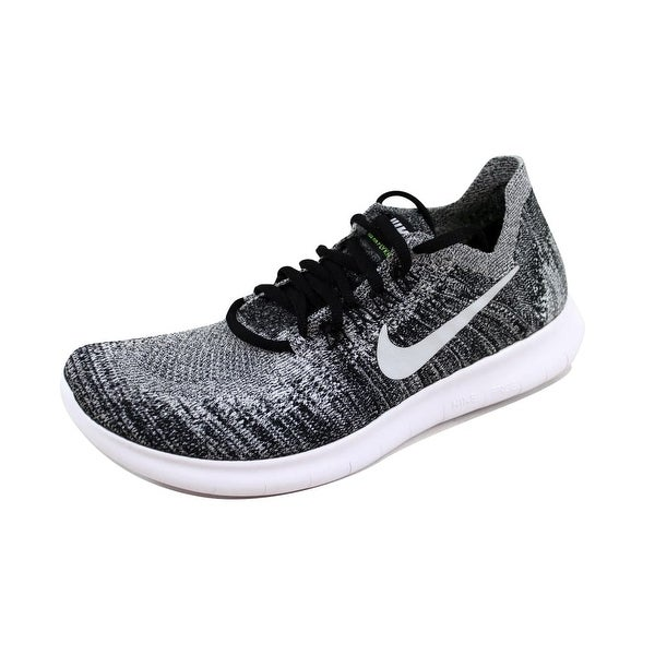 Shop Nike Women s Free RN Flyknit 2017 Black White-Volt880844-003 ... 78bad75e9