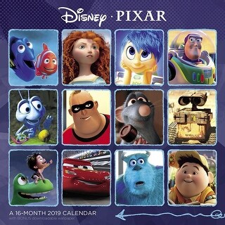 2019 Disney Pixar Collection 2019 Wall Calendar, Animated Movies by ACCO Brands