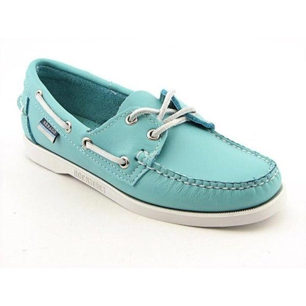 e4ad2dbd Shop Sebago Docksides Women Moc Toe Leather Blue Boat Shoe - Free ...