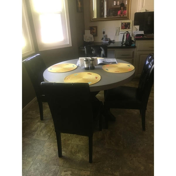Teague Round Light Weight Concrete Dining Table By Christopher Knight Home Off White On Free Shipping Today 16743272