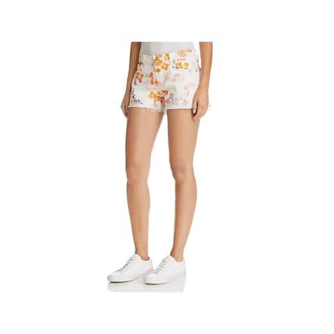 7 For All Mankind Womens Denim Shorts Cut-Off Denim