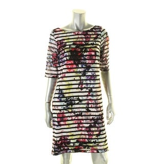 Jessica Howard Womens Casual Dress Striped Floral Print - 12