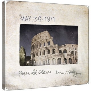 """PTM Images 9-101095  PTM Canvas Collection 12"""" x 12"""" - """"Slide of Rome B"""" Giclee Rome Art Print on Canvas"""