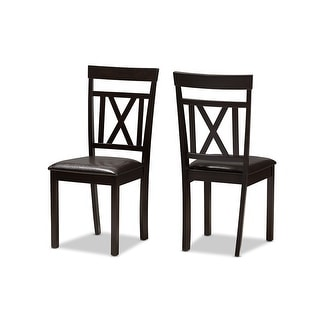 Link to Rosie Dark Brown Faux Leather Upholstered Dining Chair - 2pcs Similar Items in Dining Room & Bar Furniture