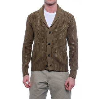 Spurr Sprawl Long Sleeve V-Neck Shawl Cardigan Men Regular Sweater Top