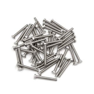 50Pcs M6 X 45mm 304 Stainless Steel Car Motorcycle Hex Socket Head Screws Bolts