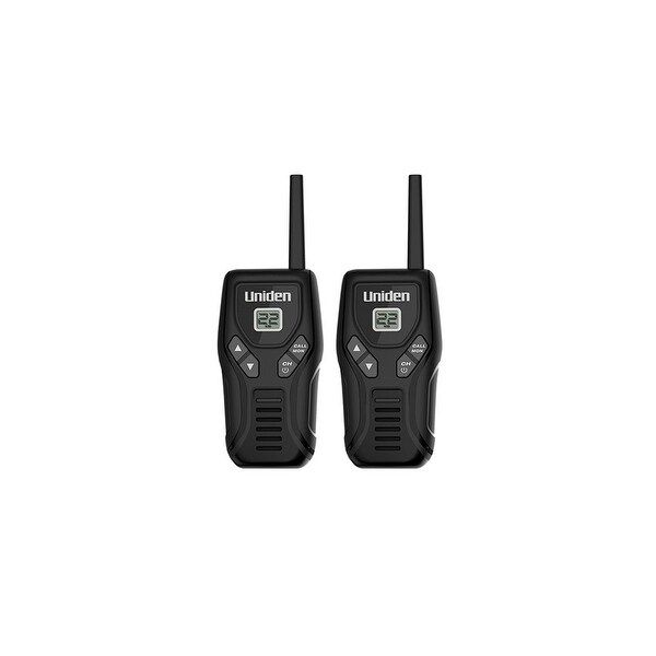 Uniden GMR2035-2 Black Two-Way Radio Twin Pack w/ Battery Meter & Channel Scan