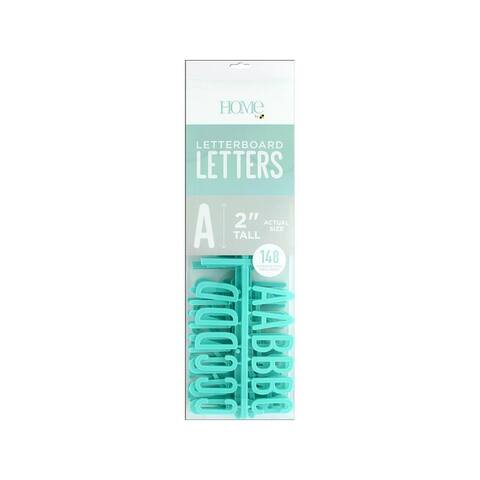 Lp-006-00004 diecuts letterboard letters 2 teal 148pc